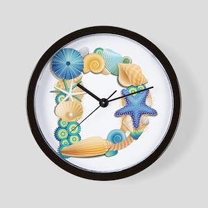 BEACH THEME INITIAL D Wall Clock