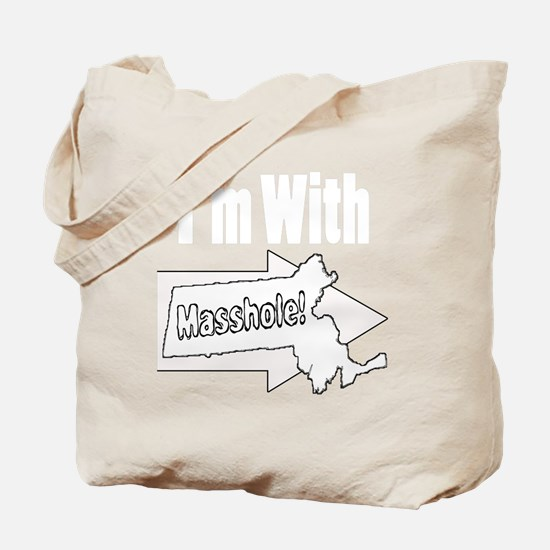 Im with Masshole Tote Bag