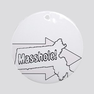 Im with Masshole Round Ornament