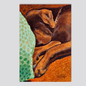 Brown Dog Postcards (Package of 8)