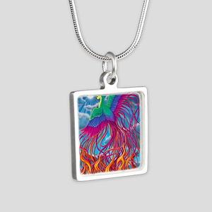 Phoenix 16x20 Silver Square Necklace