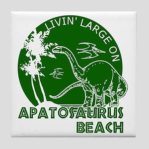 Dinosaur Apatosaurus Beach Tile Coaster