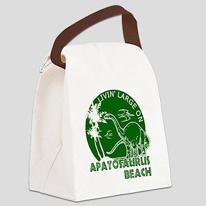 Dinosaur Apatosaurus Beach Canvas Lunch Bag