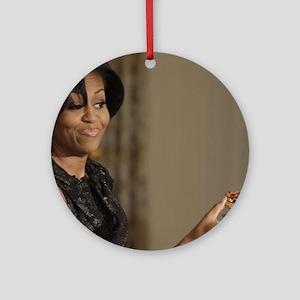 Michelle Obama Cookie Jar Round Ornament