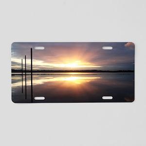 Breaking Dawn Over Still Wa Aluminum License Plate