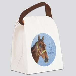 Pretty Thoroughbred Horse Canvas Lunch Bag