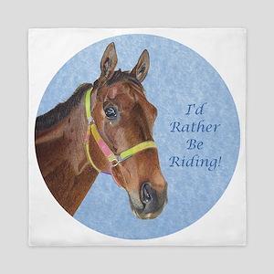 Pretty Thoroughbred Horse Queen Duvet