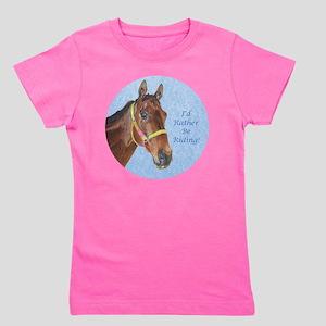 Pretty Thoroughbred Horse Girl's Tee