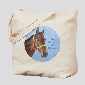 Pretty Thoroughbred Horse Tote Bag
