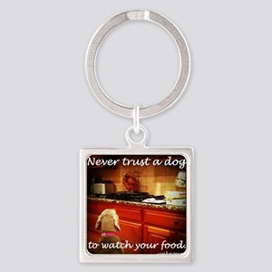 Food Watcher Square Keychain