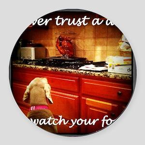 Food Watcher Round Car Magnet