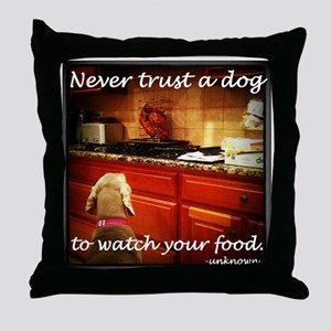 Food Watcher Throw Pillow
