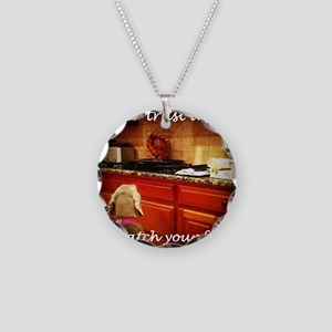 Food Watcher Necklace Circle Charm
