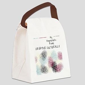 Fingerprints: Creative Culturally Canvas Lunch Bag