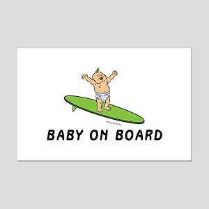 Baby on Board Mini Poster Print