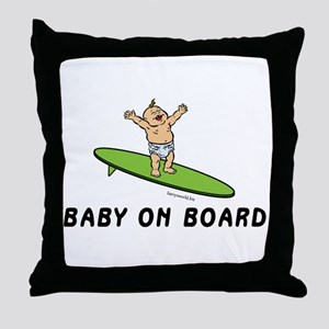Baby on Board Throw Pillow