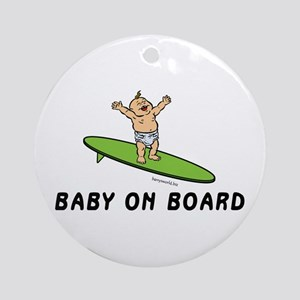 Baby on Board Ornament (Round)