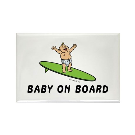 Baby on Board Rectangle Magnet (10 pack)