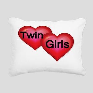 TWIN GIRLS Rectangular Canvas Pillow