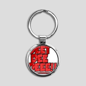 Deet Dee Dee!! Round Keychain