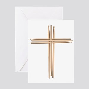 Cross - Drumsticks Greeting Card