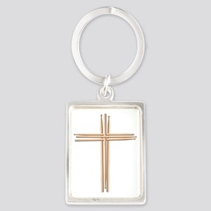 Cross - Drumsticks Portrait Keychain
