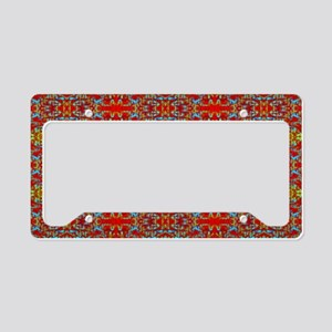 Design Delirium Red Plaid License Plate Holder