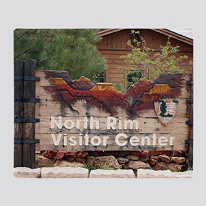 Grand Canyon North Rim Visitor Cente Throw Blanket