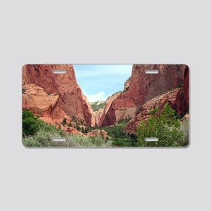 Kolob Canyons, Zion Nationa Aluminum License Plate