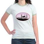 rockgrrl shilouette logo Women's Ringer