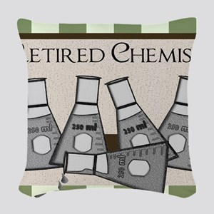 retired chemist  9 Woven Throw Pillow