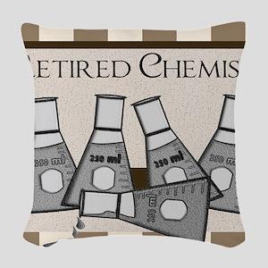 retired chemist blanket 8 Woven Throw Pillow