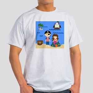 Pirate Boy  Mermaid Girl Light T-Shirt
