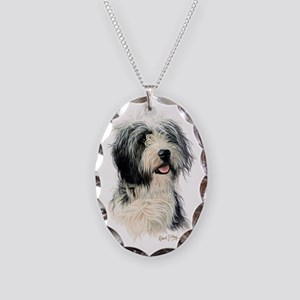 Bearded Collie 1 Necklace Oval Charm