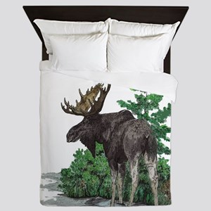 Bull moose art Queen Duvet