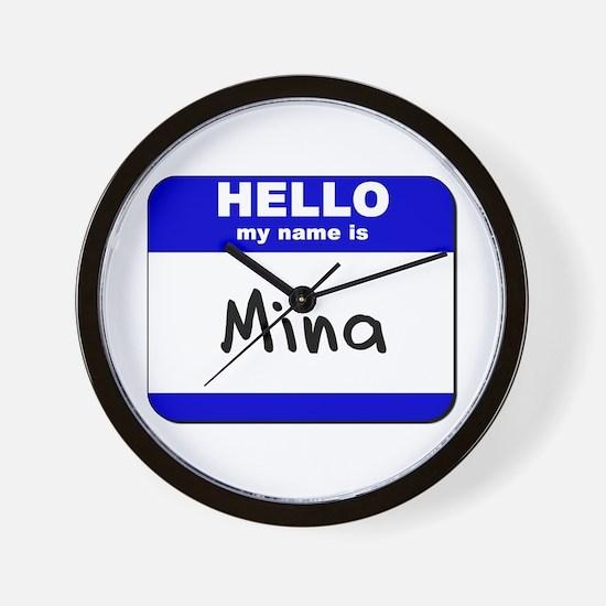 hello my name is mina  Wall Clock