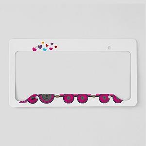 Pink Train Big Sister License Plate Holder