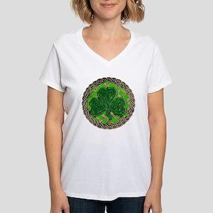 Shamrock And Celtic Knots Women's V-Neck T-Shirt