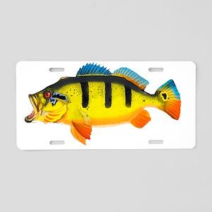 Peacock Bass Aluminum License Plate