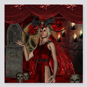 The dark fairy with candle light and skulls Square