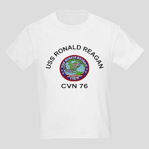 USS Ronald Reagan CVN 76 Kids Light T-Shirt