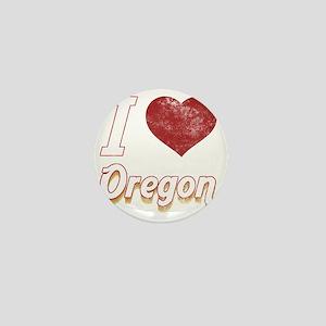 I Love Oregon (Vintage) Mini Button