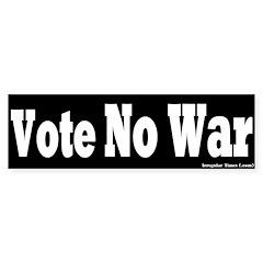 Black Vote No War Bumper Bumper Sticker