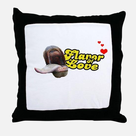 Flavor of Love Throw Pillow