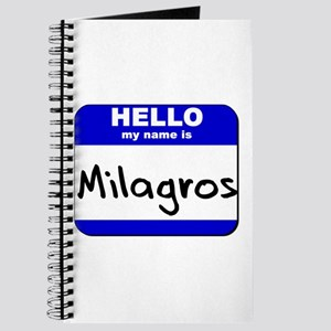 hello my name is milagros Journal