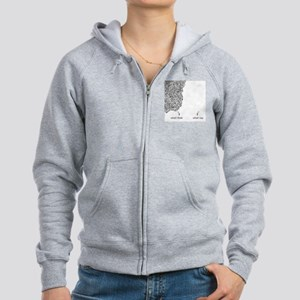 What I Think What I Say Women's Zip Hoodie