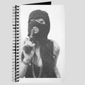 Halftone girl with a gun Journal
