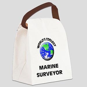 World's Coolest Marine Surveyor  Canvas Lunch Bag