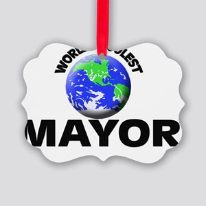 World's Coolest Mayor Picture Ornament