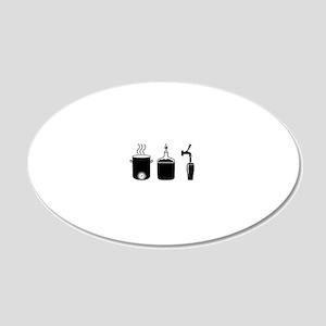 Homebrew Logo 20x12 Oval Wall Decal